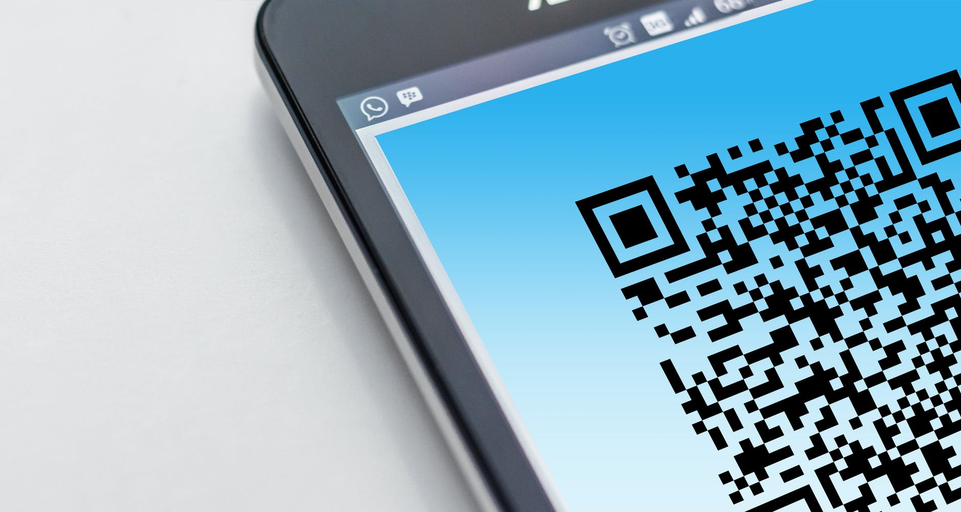 barcode cellphone close up coded